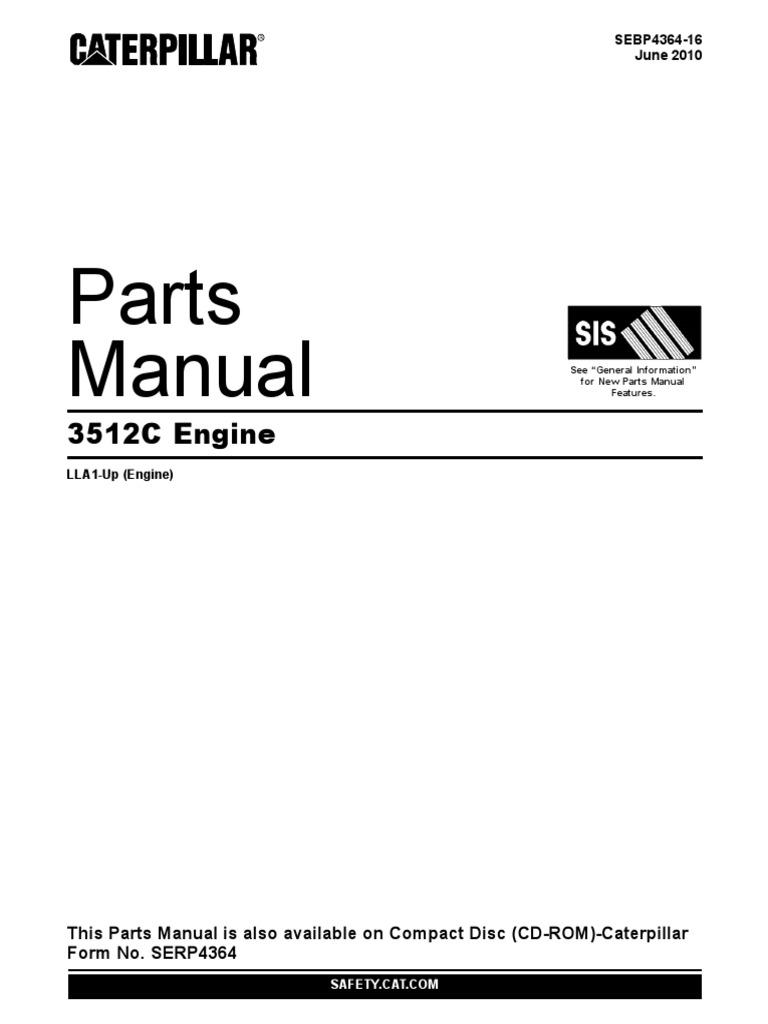cat 3512c parts pdf