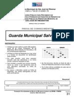Prova Guarda Municipal Salva Vidas Prefeitura Municipal Sao Jose Ribamar 2011