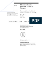 Information Security Handbooks - A Guide for Managers