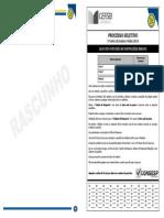 Prova Porcesso Seletivo-Colégio Termomecânica 2013.
