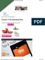 Xiaomi 1s on Samsung Rom