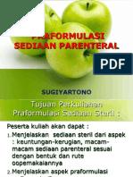 PRAFORMULASI SEDIAAN PARENTERAL.ppt