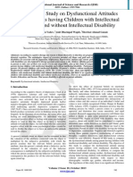 Comparative Study on Dysfunctional Attitudes among Parents having Children with Intellectual Disability and without Intellectual Disability