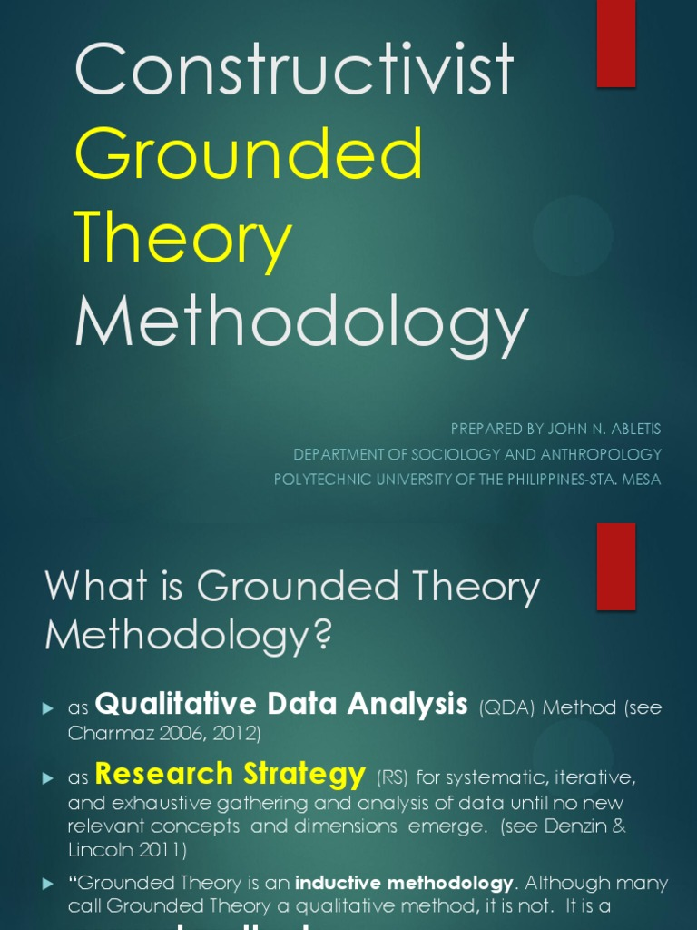 constructivist research paper This paper presents a series of questions that assisted one phd student in making key methodological choices during her research journey in this study, a collective case study design informed by constructivist grounded theory data analysis methods was used to develop a framework of community development from an occupational therapy perspective.