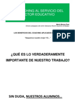 El Coaching Al Servicio Del Sector Educativo