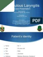 CASE LAringitis TB Dr Oscar