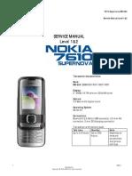 Nokia 7610 Supernova RM-354 SM L1&2 v.1.0