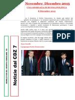 Newsletter di NOVEMBRE e DICEMBRE 2013 del Gruppo Consiliare PD di Zona 7-Milano Ratings