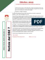 Newsletter di OTTOBRE 2013 del Gruppo Consiliare PD di Zona 7-Milano