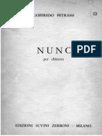 Goffredo Petrassi - Nunc (Ed Suvini Zerboni)