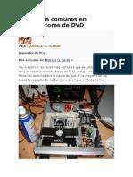 Fallas Más Comunes en Reproductores de DVD