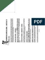 Dernières Infos 2009 - Note Numero 3