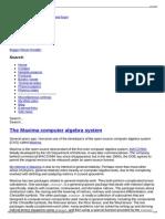 The Maxima Computer Algebra System