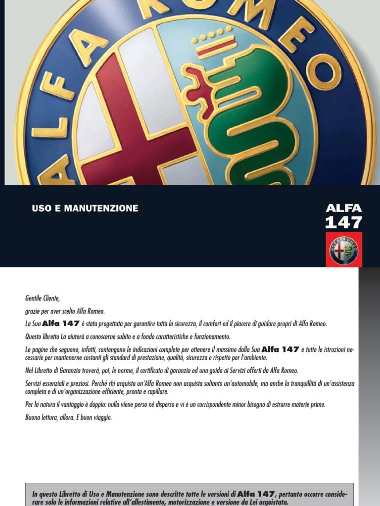 NUOVO ORIG ALFA ROMEO 147 BRERA 159 2008 /> Servizio Libro Libretto di garanzia