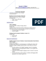 suzette elliotts teaching resume