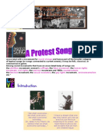Protest Songs Webquest