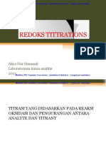 REDOX TITTRATIONS