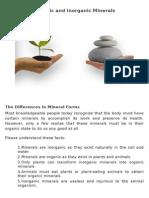 Organic and Inorganic Minerals