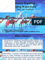 FINAL PPT Destination Branding - Developing Brand India