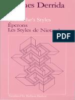 Derrida, J - Spurs (Nietzsche's Styles) (Chicago, 1979).pdf