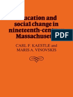 Carl F. Kaestle, Maris a. Vinovskis Education and Social Change in Nineteenth-Century Massachusetts