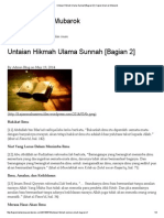 Untaian Hikmah Ulama Sunnah [Bagian 2] _ Kajian Islam Al-Mubarok