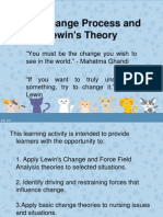 The Change Process and Lewin's Theory