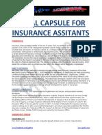 Insurance Asst & Ao- Special Capsule