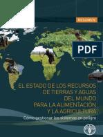 FAO-SOLAW Estado Tierras y Aguas Mundo