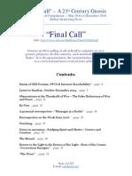Final Call - Main essay compilation
