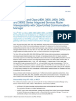 Integrated Services Router Interoperability With Cisco Unified Communications Manager