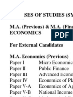 Syllabus of M.A. Eco KU