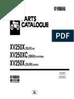 Yamaha Xv250x Xv250xc Parts Catalogue
