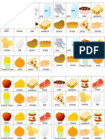 Food Bingo Cards