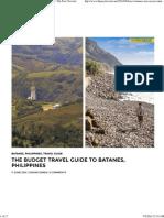 Batanes Budget Trip