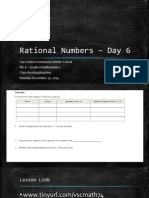 Lesson #34 - Rational Numbers on the Number Line