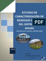 Estudio de Caracterización Del Distrito de Ahuac