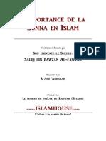 Fr Islamhouse Importance Sunna Islam Fawzan