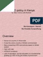 NHRD Policy in Kenya