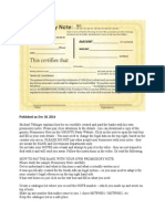 How to Create Your Own Promissory Notes - Michael Tellinger