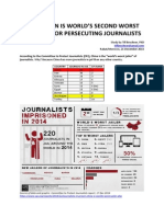 Azerbaijan is Worlds Second Worst Country for Persecuting Journalists