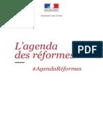 L'agenda des réformes