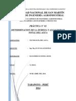 Practica N_ 03 de Tecnologia Del Agua