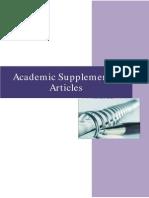 Supplement 3 Articles