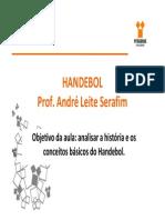 A historia do handebol