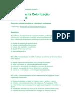 Prova Administração Do Brasil Colonial 2