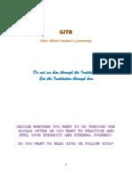 Gita (the effort maker's journey)