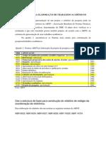 LISTA de Normas ABNT Para Trabalhos Acadêmicos