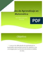 Dificultades de Aprendizaje en Matemática