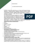 Resumen Del Sistema Financiero Peruano